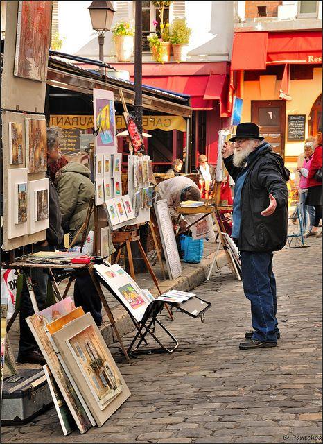 France Paris Montmartre Place du Tertre painters
